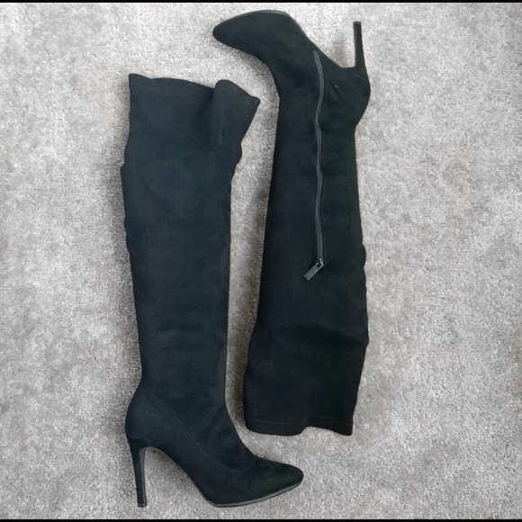 Shoes - Pointed Toe Over the Knee Boots